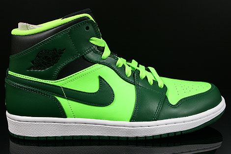 Nike Air Jordan 1 Mid Gorge Green Black Electric Green