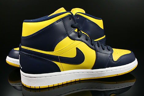 Nike Air Jordan Mid  Shoes Varsity Maize Midnight