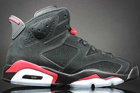best website 59fa3 fb38c Nike Air Jordan 6 VI Retro Schwarz Rot Weiss