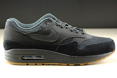 Nike Air Max 1 Black Black Black Right
