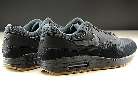 Nike Air Max 1 Black Black Black Back view