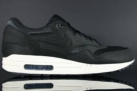 Nike Air Max 1 Black Black Sail