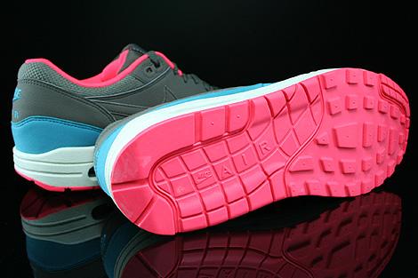 Nike Air Max 1 Essential Dunkelbraun Petrol Weiss Rot Laufsohle