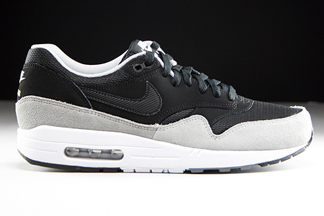 nike air max 1 grey black
