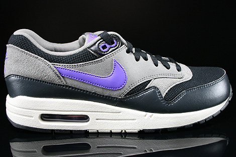 online retailer 28415 6eb7f Nike Air Max 1 Essential Black Hyper Grape Light Ash 537383-005 ...