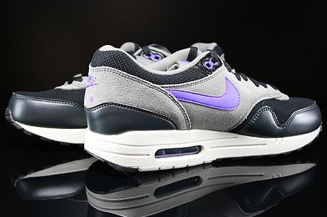 Nike Air Max 1 Essential Schwarz Dunkelgrau Grau Lila Beige Innenseite
