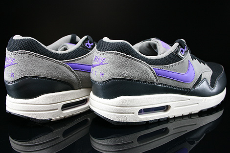 Nike Air Max 1 Essential Black Hyper Grape Light Ash Back view