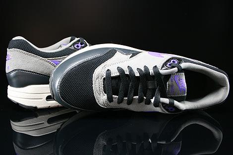 Nike Air Max 1 Essential Schwarz Dunkelgrau Grau Lila Beige Oberschuh