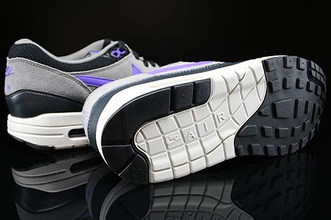 Nike Air Max 1 Essential Schwarz Dunkelgrau Grau Lila Beige Laufsohle