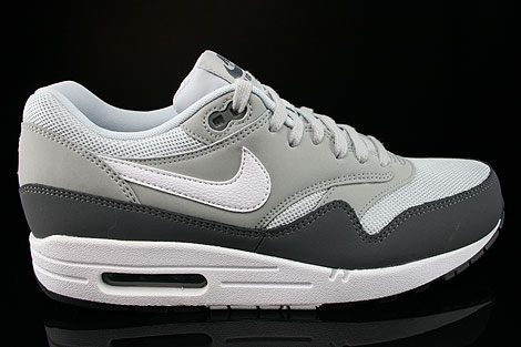 Nike Air Max 1 Essential Dark Grey White Silver Pure Platinum Right