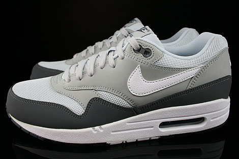 Nike Air Max 1 Essential Dark Grey White Silver Pure Platinum Profile