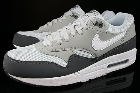 Nike Air Max 1 Essential Dark Grey White Silver Pure Platinum Sidedetails