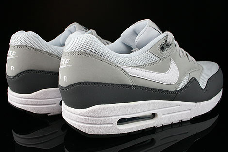 Nike Air Max 1 Essential Dark Grey White Silver Pure Platinum Back view