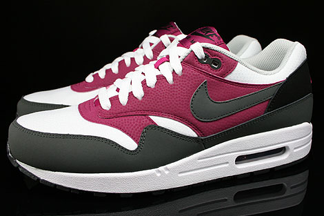 Nike Air Max 1 Essential White Dark Base Grey Bright Magenta Black Profile