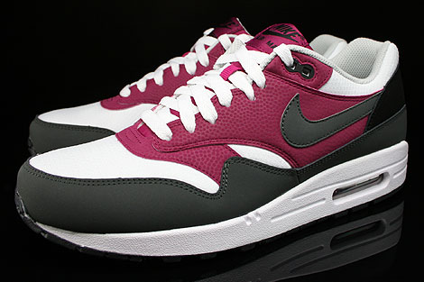Nike Air Max 1 Essential White Dark Base Grey Bright Magenta Black Sidedetails