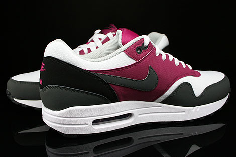 Nike Air Max 1 Essential White Dark Base Grey Bright Magenta Black Inside