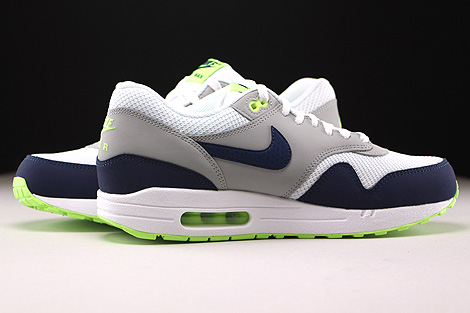 Nike Air Max 1 Essential White Midnight Navy Flat Silver Ghost Green Inside