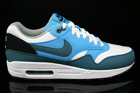 Nike Air Max 1 Essential White Night Factor Vivid Blue Black