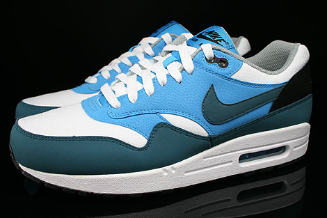 innovative design 9a621 8aae5 ... Nike Air Max 1 Essential White Night Factor Vivid Blue Black Profile ...