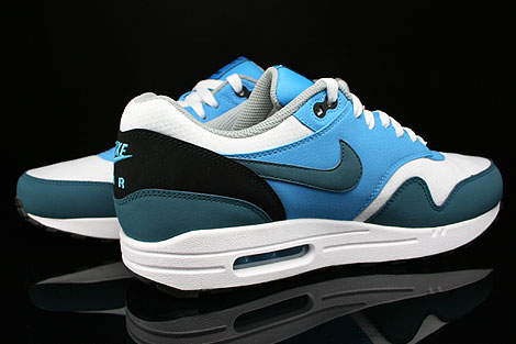 Nike Air Max 1 Essential White Night Factor Vivid Blue Black Inside