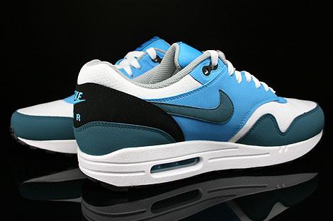 Nike Air Max 1 Essential Weiss Petrol Blau Grau Schwarz Innenseite