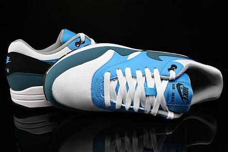 Nike Air Max 1 Essential Weiss Petrol Blau Grau Schwarz Oberschuh