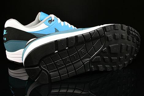 Nike Air Max 1 Essential Weiss Petrol Blau Grau Schwarz Laufsohle