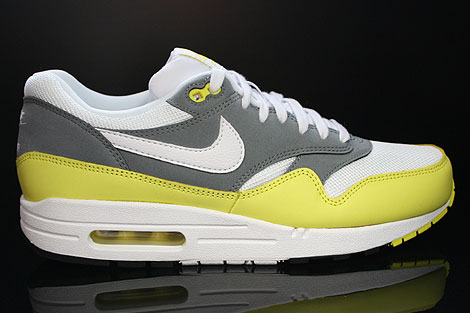 Nike Air Max 1 Essential White Yellow Cool Grey Black Right