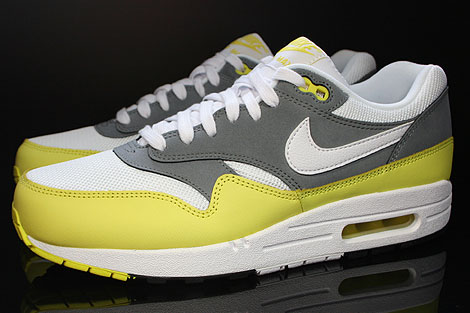 Nike Air Max 1 Essential White Yellow Cool Grey Black Profile