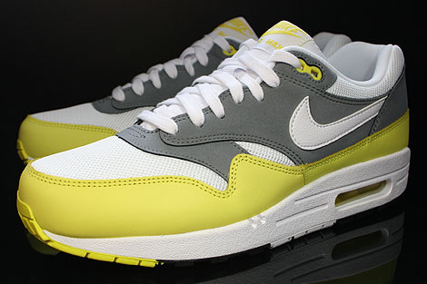 Nike Air Max 1 Essential White Yellow Cool Grey Black Sidedetails
