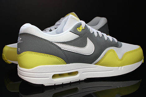 Nike Air Max 1 Essential White Yellow Cool Grey Black Inside