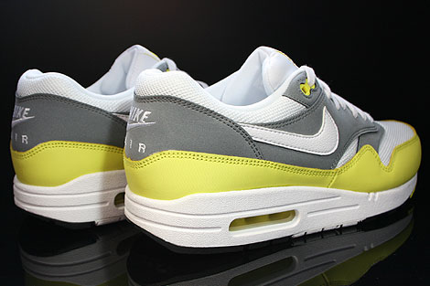 Nike Air Max 1 Essential White Yellow Cool Grey Black Back view