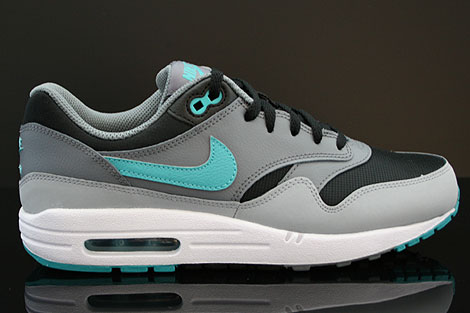 Nike Air Max 1 GS Black Sport Turquoise Stadium Grey