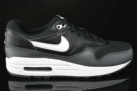 Nike Air Max 1 GS Black White Dark Grey Right