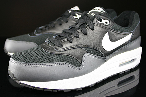 Nike Air Max 1 GS Black White Dark Grey Sidedetails