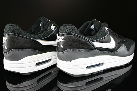 Nike Air Max 1 GS Black White Dark Grey Back view