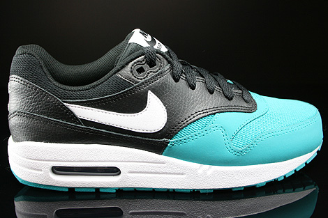 ... Nike Air Max 1 GS Black White Turbo Green Black Right ...