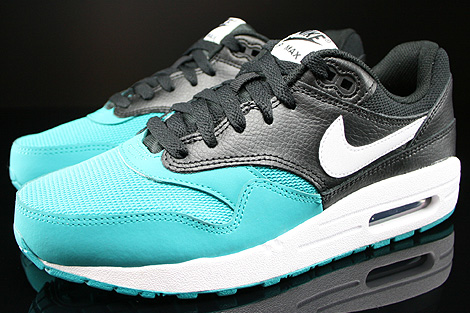 Nike Air Max 1 GS Black White Turbo Green Black Profile