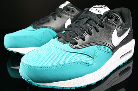 Nike Air Max 1 GS Black White Turbo Green Black Sidedetails