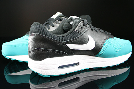 Nike Air Max 1 GS Black White Turbo Green Black Inside