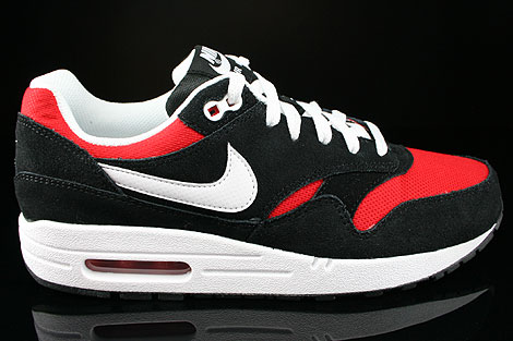 26f3f4e31792 Nike Air Max 1 GS Black White University Red 555766-004 - Purchaze