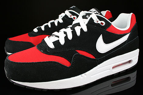 Nike Air Max 1 GS Black White University Red Sidedetails