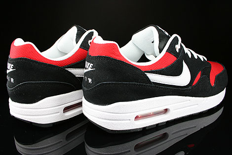 Nike Air Max 1 GS Black White University Red Back view