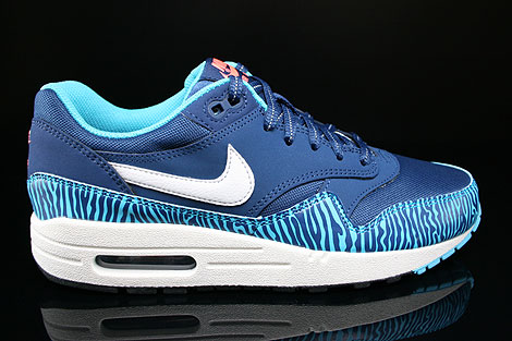 Nike Air Max 1 GS Brave Blue Summit White Black 555766 402