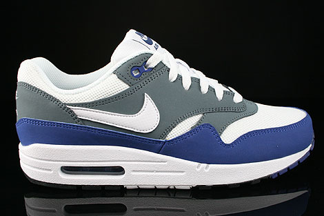 Nike Air Max 1 GS Deep Royal Blue White Armory Slate Black Right