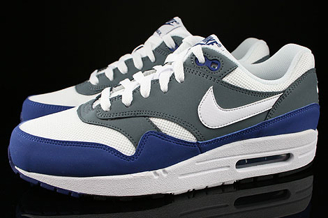 Nike Air Max 1 GS Deep Royal Blue White Armory Slate Black Profile