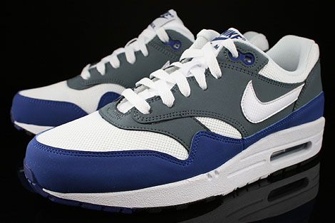 Nike Air Max 1 GS Deep Royal Blue White Armory Slate Black Sidedetails