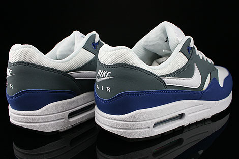 Nike Air Max 1 GS Deep Royal Blue White Armory Slate Black Back view