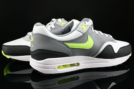 Nike Air Max 1 GS Dusty Grey Volt Cool Grey Metallic Silver Inside