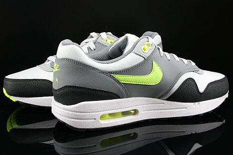 Nike Air Max 1 GS Grau Neongelb Hellgrau Anthrazit Innenseite